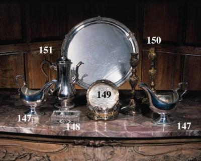 A Victorain silver table cigar