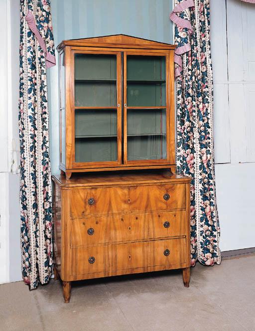 A Biedermeier fruitwood chest