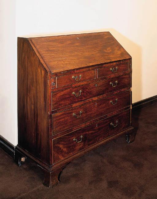 A George III mahogany bureau