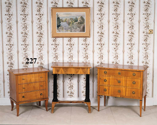 A fruitwood commode