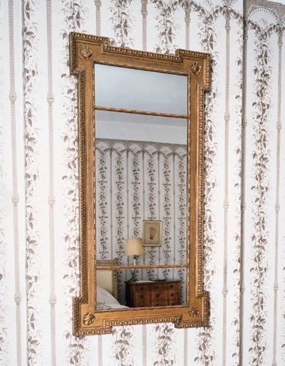 A giltwood and gesso wall mirr