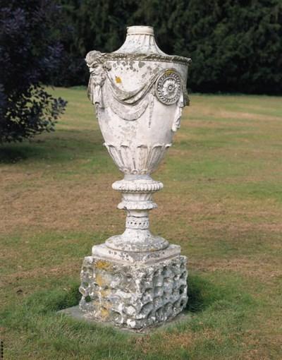 A Coade stone neo-classical ur