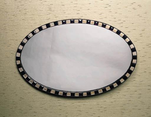an irish oval wall mirror, lat