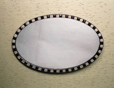 an irish oval wall mirror, lat