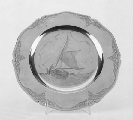 A Victorian silver gilt cased