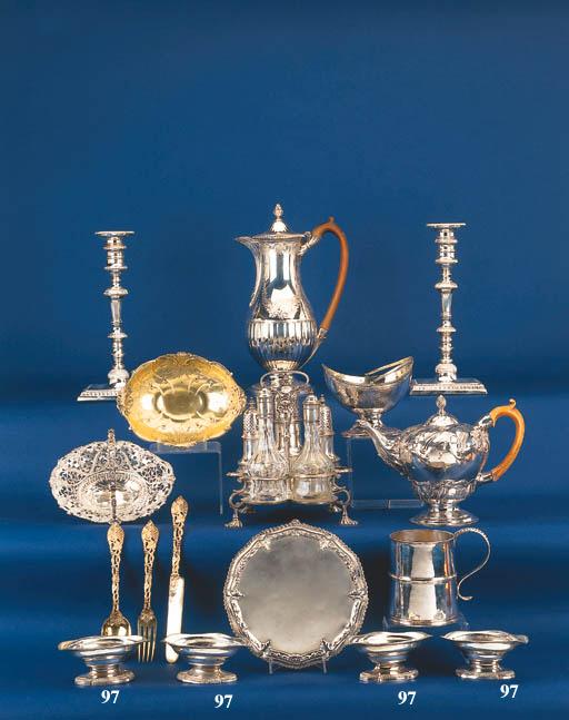 A set of four George III Scottish salts