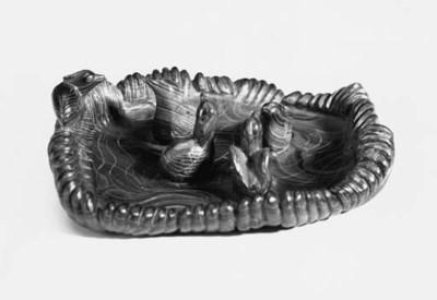 A Chinese malachite brushwashe