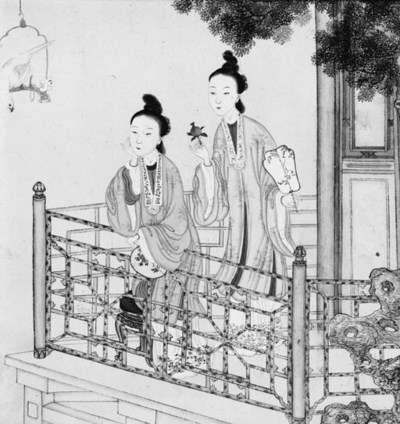A Chinese watercolour