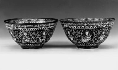 Four Thai Baragon Tumid bowls