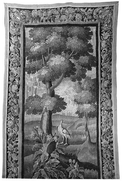 A long verdure tapestry hangin