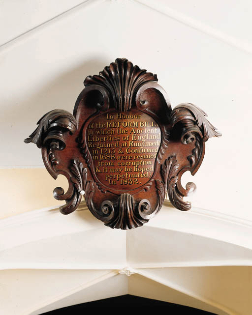 A William IV oak cartouche