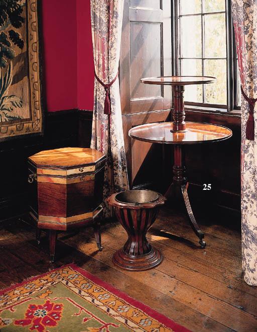 A George III mahogany two-tier