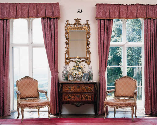 A giltwood and gesso mirror,