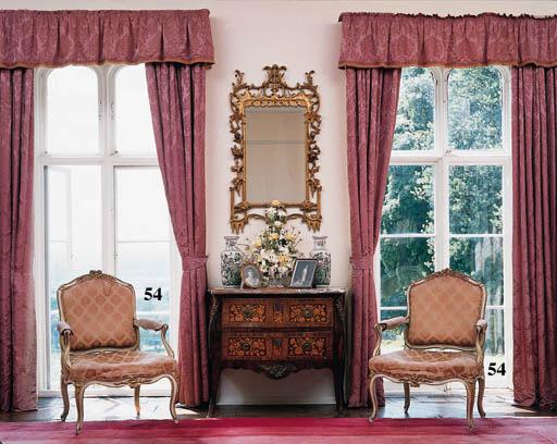 A set of four Louis XV white-p