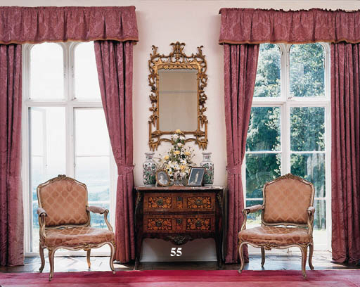 A Louis XV kingwood and floral