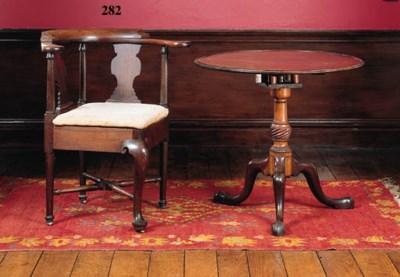 A George II mahogany corner el