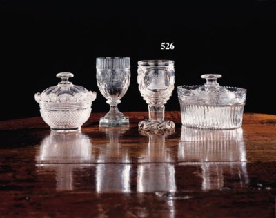 A Bohemian clear-glass cut and