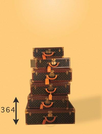 A Louis Vuitton hard case, cov
