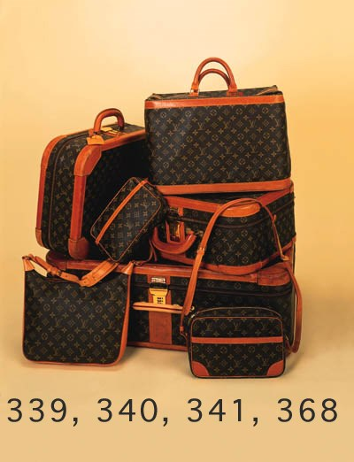 A Louis Vuitton soft-sided sui