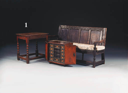 An oak side/centre table, late 17th century