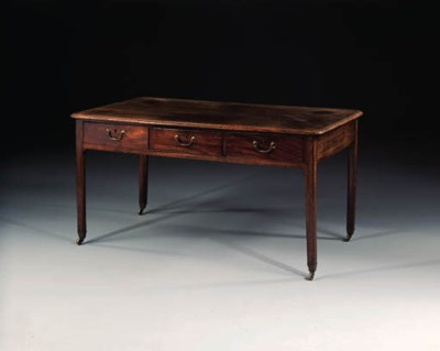 A mahogany library table, 18th