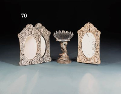 A pair of Dieppe ivory mirrors