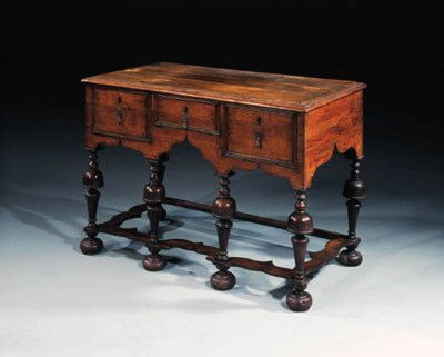 An oak stand, late 17th centur