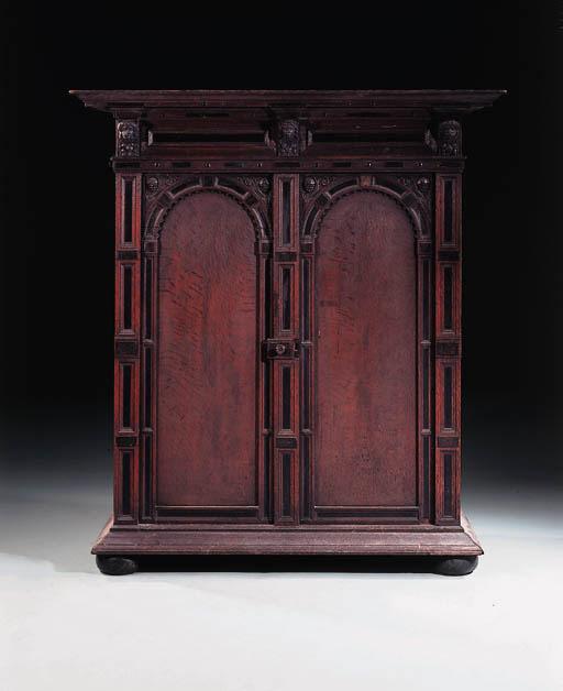 A Flemish oak armoire, 19th century