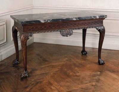 A mahogany side table, mid 18t