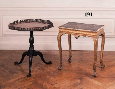 A giltwood side table of Georg