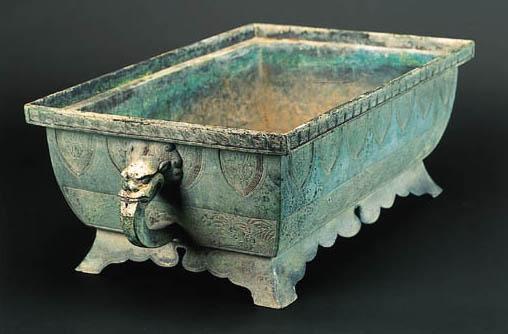 A Chinese bronze rectangular f