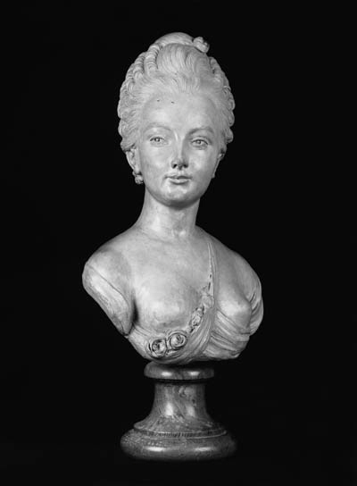 A terracotta bust of a young l