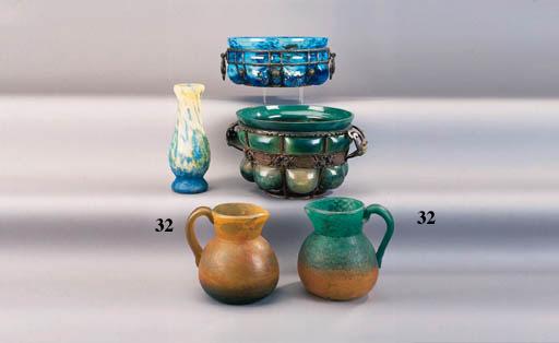 Two George de Feure glass jugs