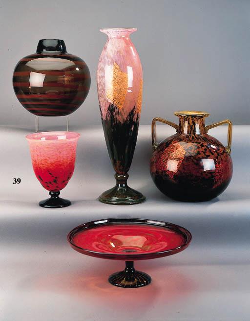 A Schneider glass vase