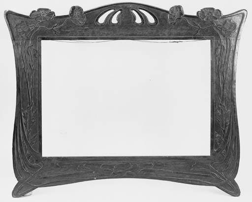 A French Art Nouveau wooden fr