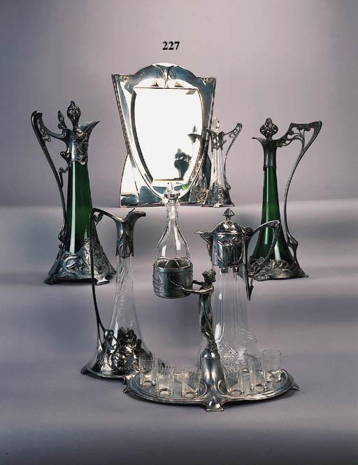 A W.M.F silvered metal mirror