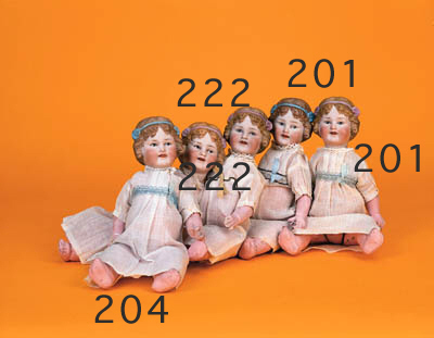 Two unusual Revalo child dolls