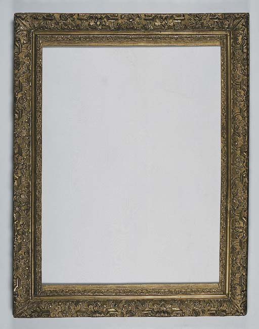 A carved and gilded frame, in