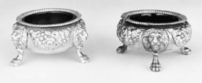 A set of four George III cauld