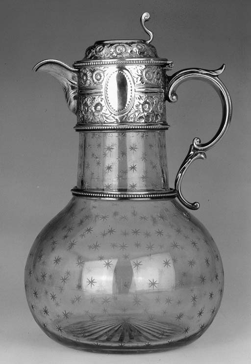 A Victorian mounted clear glas
