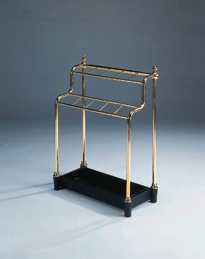 A brass stick stand, early 20t