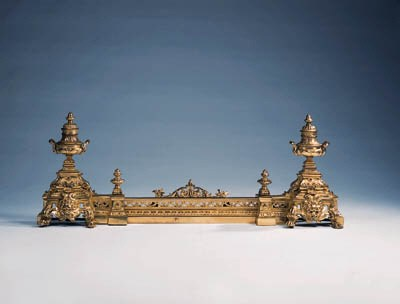 A French gilt-bronze fender, l