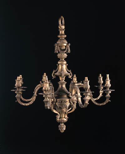 A Régence style gilt-bronze ei