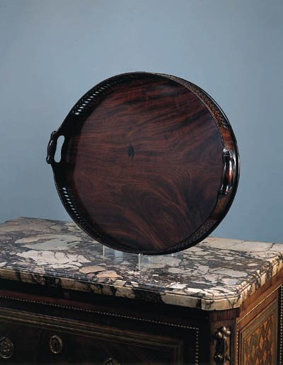 A mahogany tray, early 20th ce