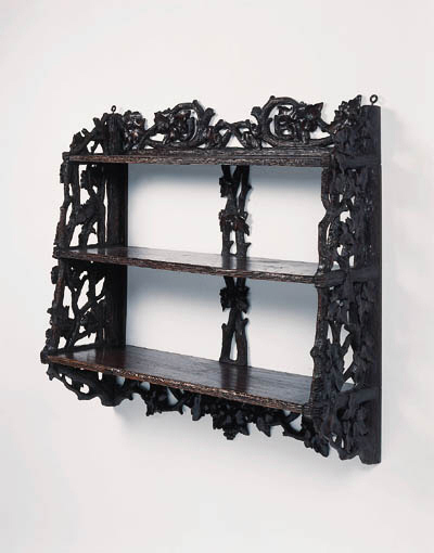 A set of Black Forest carved p