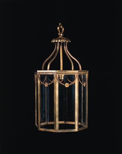 A gilt-bronze octagonal hall l