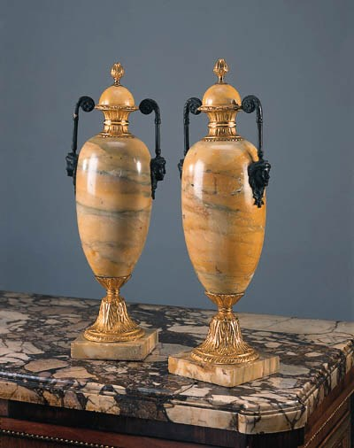 A pair of bronze and gilt-bron
