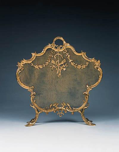 A French bronze firescreen, 20