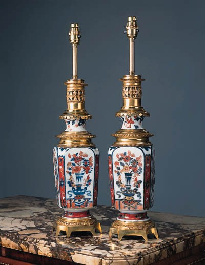 A pair of Chinese porcelain an