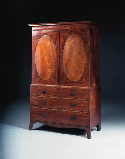 A George III mahogany and rose
